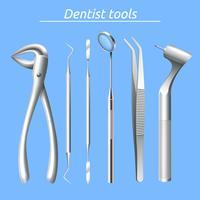 Conjunto de herramientas de dentista