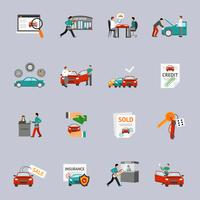 Car Dealership Icon Set vector