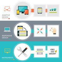 Conjunto de Banner de Web Design Responsivo e Adaptativo
