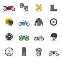 Motorcykel ikoner Set