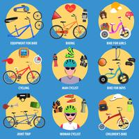 Bicycle Icons Set