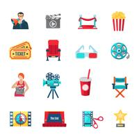 Filmemachen Icons Set
