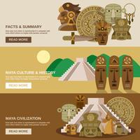 Conjunto de banners mayas