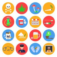 Drogues Icons Set