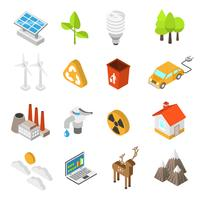Ecology And Environment Protection Icon Set