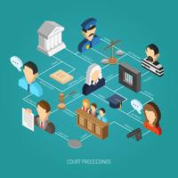 Law Isometric Concept vector