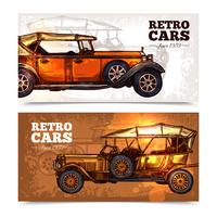 Retro bilar Banner Set