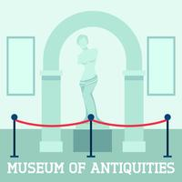 Museum Of Antiquities Poster vector