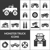 conjunto de iconos de monster truck