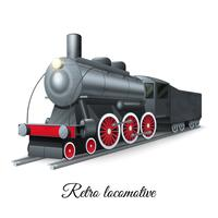 Retro locomotief illustratie