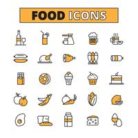 Food And Drink Line Icons Set