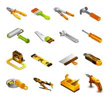 Tools Isometric Icons