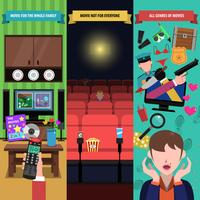 Movies Banner Set vector