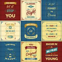 Slogan typografi affischer