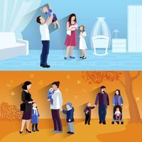 Banner di Parenthood 2 flat icomposition