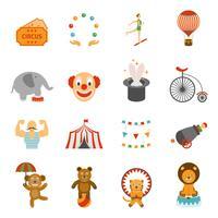 Chapito circus pictogrammen instellen plat