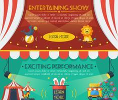 cirkus banner set