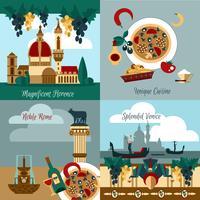 Conjunto turístico de italia