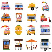 Street Food Icons Set