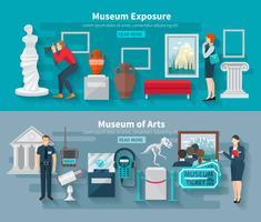 Conjunto de estandarte de museo