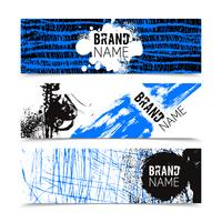 Grunge Texture Color Banner Set  vector