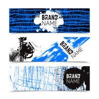 Conjunto de banners de color de textura Grunge