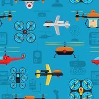 Drones Naadloze Achtergrond