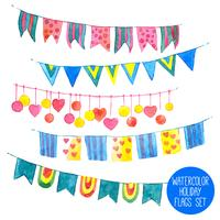 Watercolor Holiday Garlands Set