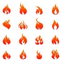 Fire Flat Icon Set
