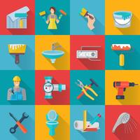 Home Reparatie Icons Set