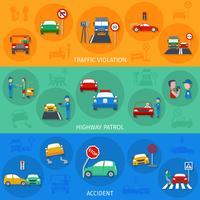 Verkeersovertreding Banner Set