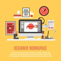 Designer Workspace Illustration