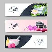 Spa Banner Set vector