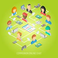Internet Chat Concept vector