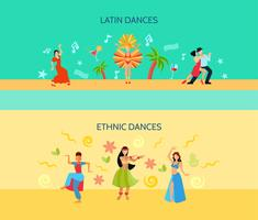 Horizontal Flat dance Style Banners