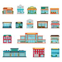 Conjunto de iconos de la tienda