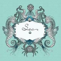 Seeleben-Gekritzel-Illustration