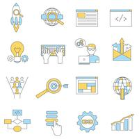 Web pictogrammen lijn