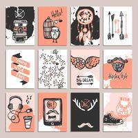 Hipster-Kartenset