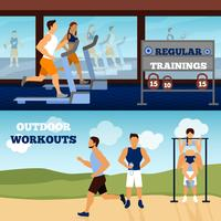 Trainer Banner Set vector