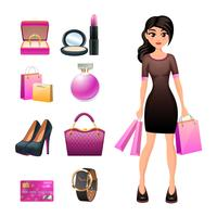 Set shopping décoratif femme