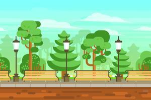 Cartel del paisaje del jardín del verano