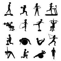 Set di Blackicons da donna per fitness