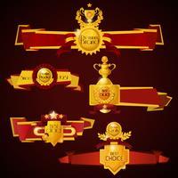 Banners de premios establecidos