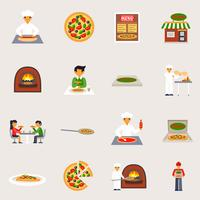 Pizzeria ikoner Set