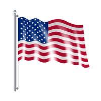 Ilustração da bandeira americana