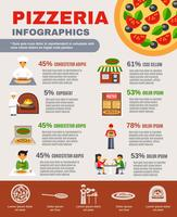 Pizzeria Infographic Set  vector
