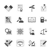 Conjunto de iconos de cumplimiento legal