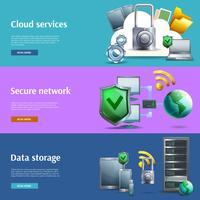 Data storage and protection banners set