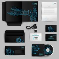 Corporate Identity-Technologie-Muster